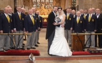 NMVC With The Bride And Groom-St.Mary's Church-Horncastle