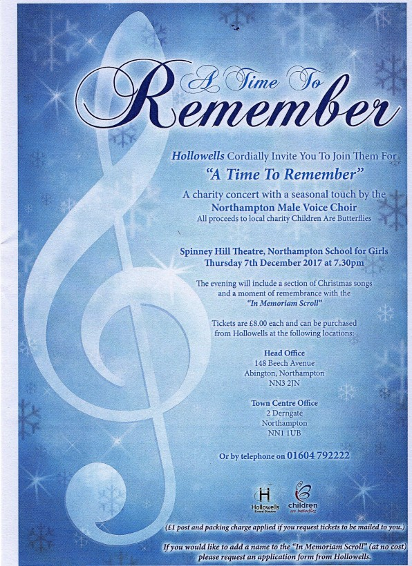 2017 Choir Remembrance Concert